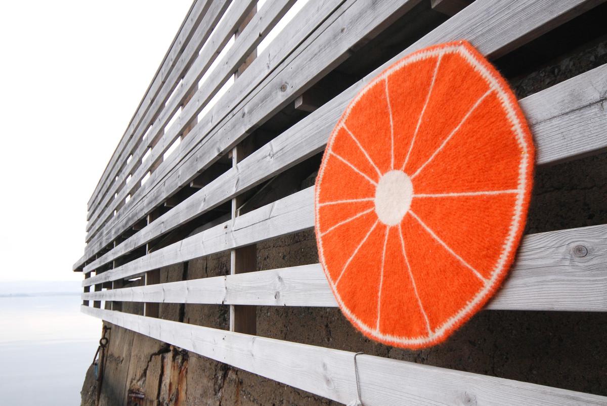 Oppskrift på appelsin-sitteunderlag