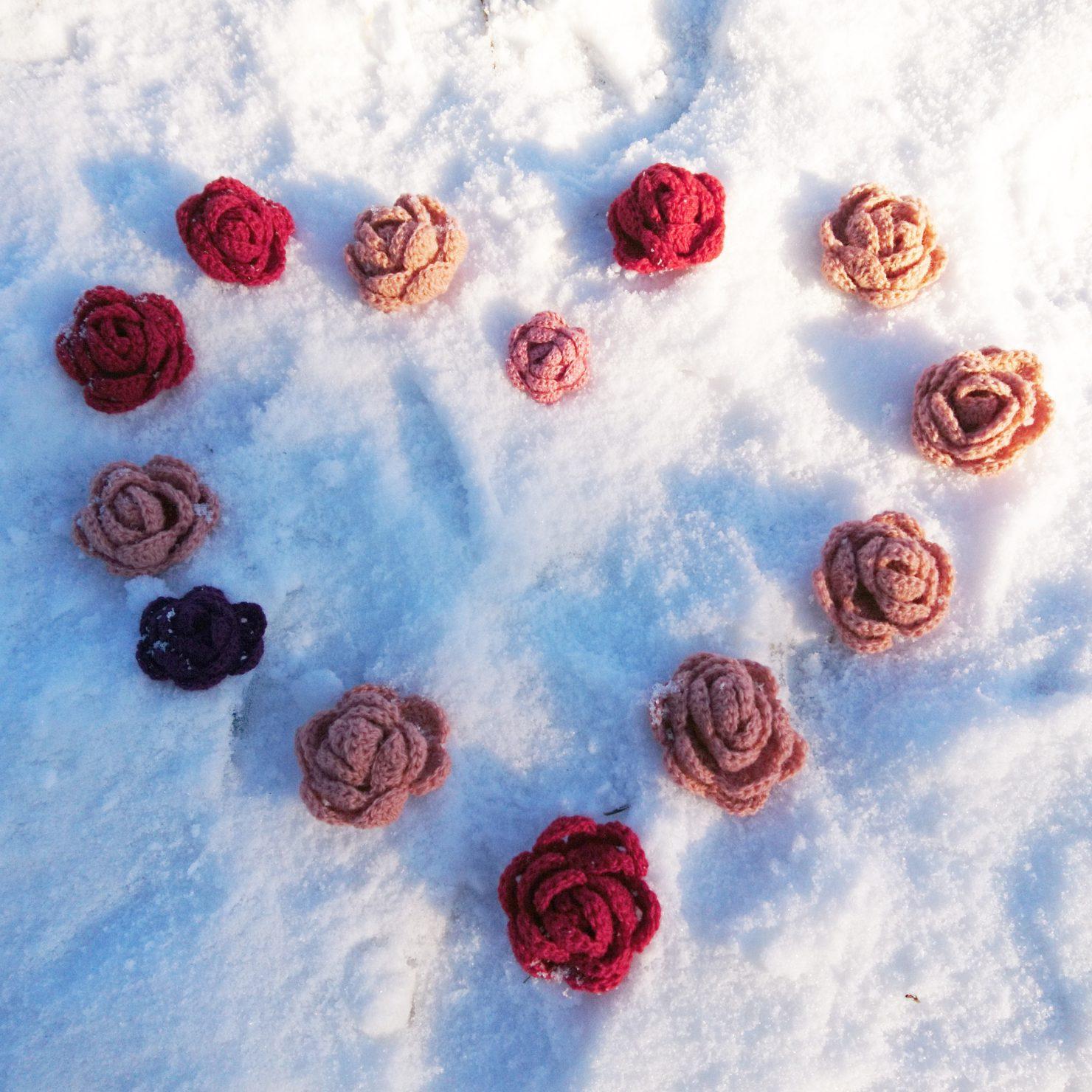 Oppskrift på heklet rose